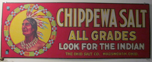 Chippewa Salt sign